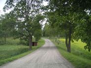 Så här vackert är det när man kör av från Norrlandsvägen